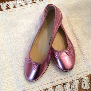 JCrew Crew Cuts Leather Ballet Flats